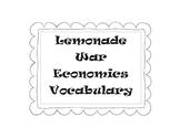 Lemonade War Economics Vocabulary worksheets
