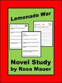 Lemonade War Literacy Unit