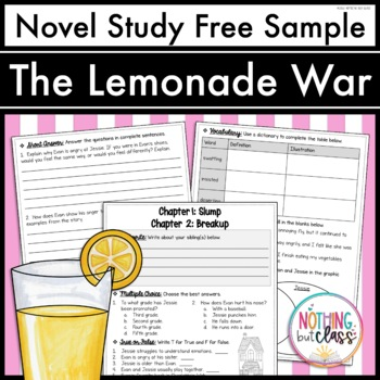 The Lemonade War Novel Study Unit: FREE Sample