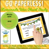 Google Classroom™ Lemonade War Novel Study Self-Checking Digital Task Cards