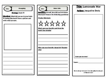 Lemonade War Reading Guide and Comprehension Activities