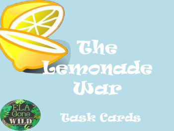 Lemonade War Task Cards