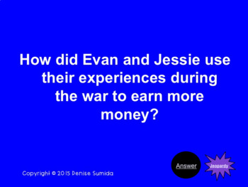 The Lemonade War by Jacqueline Davis Jeopardy