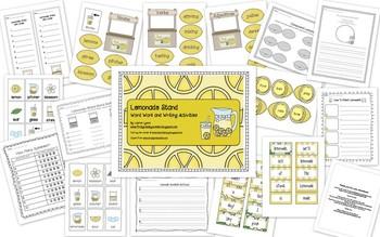 Lemonade Word Work and Writing