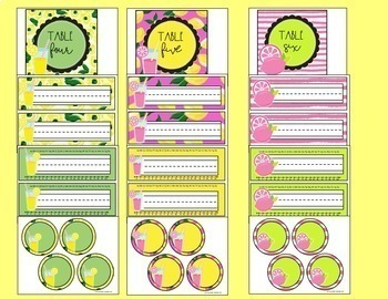 Lemonade and Sunshine Classroom Decor with  Editable Features