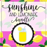Lemonade and Sunshine Classroom Decor with  Editable Features