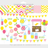 Lemonade clipart - pink lemonade stand clip art summer lemons shop stand papers