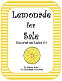 Lemonade for Sale--Decoration Sales Kit