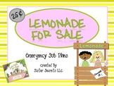 Lemonade for Sale Emergency Sub Plans