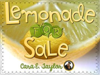 Lemonade for Sale ~  Math & Literacy Activities, Centers, Games