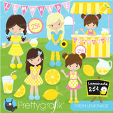 Lemonade stand clipart commercial use, vector graphics, digital - CL682