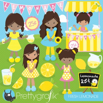 Lemonade stand clipart commercial use, vector graphics, digital - CL844