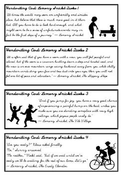 Lemony Snicket Quotes - Fun handwriting practice in D'Nealian Cursive