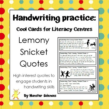 Lemony Snicket Quotes - Fun handwriting practice in Foundation Cursive