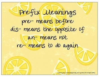 Lemony Word Parts