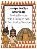 Lenape or Eastern Woodland Natives Cross Curricular Readin
