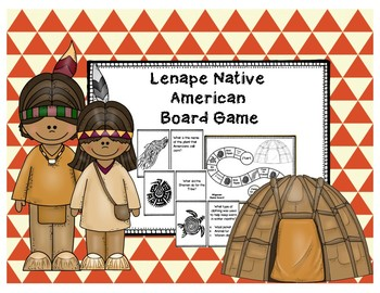Lenape or Eastern Woodland Natives Review Board Game