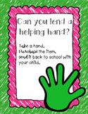 Lend A Helping Hand {Class Wishlist} Open House Parent Teacher Conferences