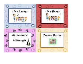 Lend a Hand Class Job Chart Multicolor Poster, Bulletin Board