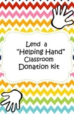 Lend a Helping Hand Classroom Donation Kit
