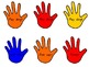 Lend a Helping Hand Classroom Donations-Red, Blue and Yellow
