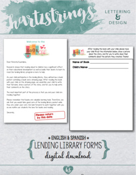 Lending Library Book Club Homework Forms
