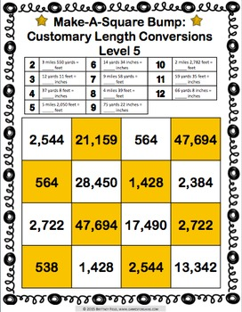 Customary Length Conversions: Measurement Conversion Games (4.MD.A.1)