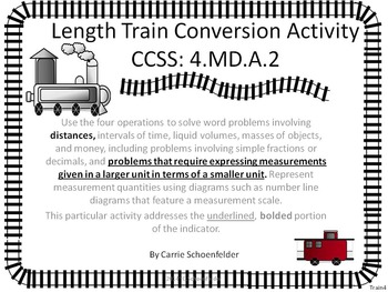 Length Conversion Train ~ Domino Game Assessment CCSS 4.MD.A.2