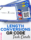 Length Conversions Task Cards with QR Codes