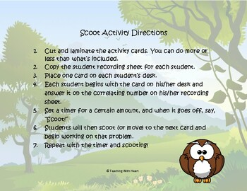 Length Conversions Scoot Activity/Task Cards (U.S. Customary)