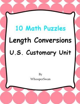Length Conversions U.S. Customary Unit - Math Puzzles