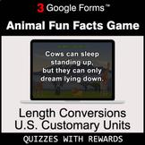 Length Conversions: U.S. Customary Units | Animal Fun Fact