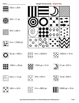 Length Conversions (U.S. Customary Units) - Coloring Pages   Doodle Art Math