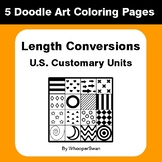 Length Conversions (U.S. Customary Units) - Coloring Pages