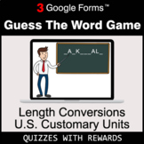 Length Conversions: U.S. Customary Units | Guess The Word