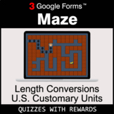 Length Conversions: U.S. Customary Units | Maze | Google Forms