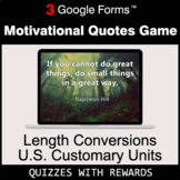 Length Conversions: U.S. Customary Units | Motivational Qu