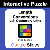 Length Conversions (U.S. Customary Units) - Puzzles with G