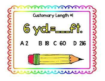 Length-Four Corners Activities for Converting Units