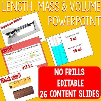 Length Mass Volume PowerPoint