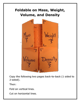 Length, Mass, Volume, and Density Labs
