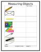 Length Math Work Station Measuring Objects Response sheet