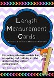 Length Measurement Cards - Human Number Line Activity