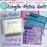 Length & Metric Units: Measurement- Extra Practice Grade 3 Ontario Math