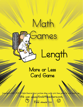Length- More Or Less Card Game (English and Metric)