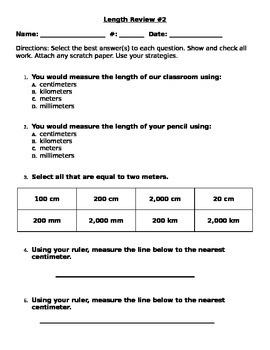 Length Review Homework 2