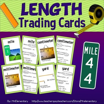 Length Vocabulary Trading Cards