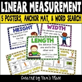 Linear Measurement Posters, Organizer, and Word Search