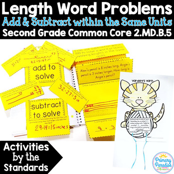 Length Word Problems within 100  2.MD.B.5 Common Core Math 2nd Grade