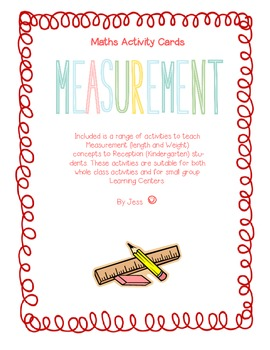 Length and Weight Measurement Activity cards